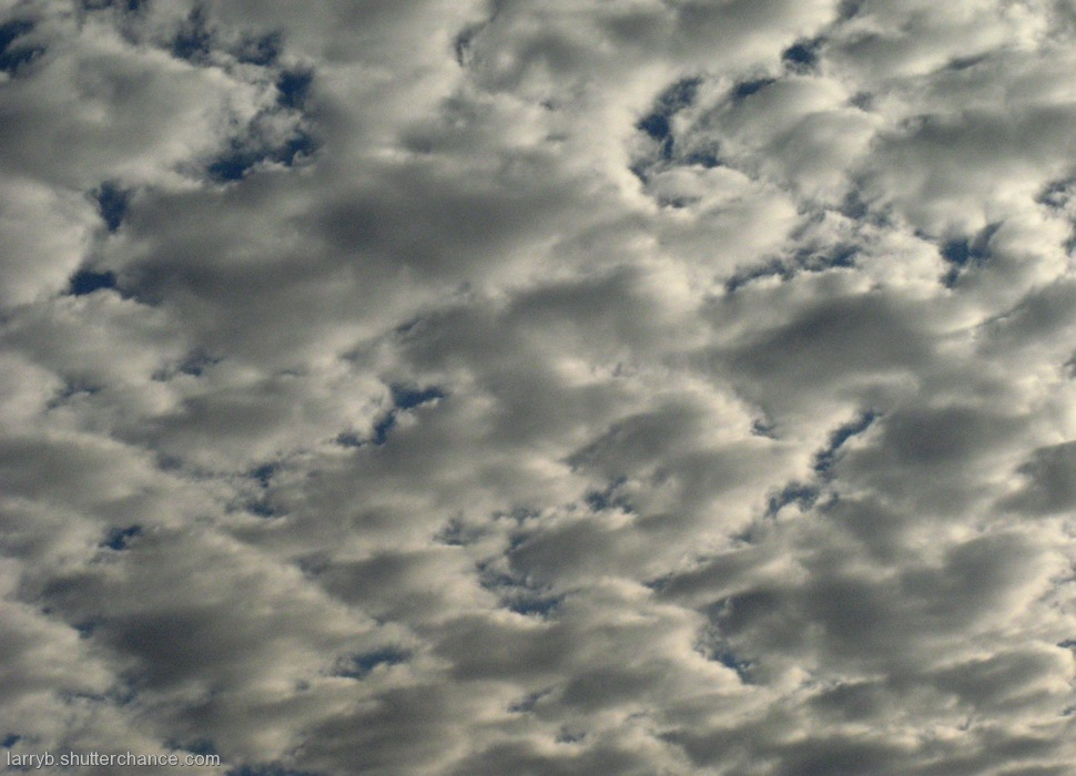 photoblog image Bumpy Clouds