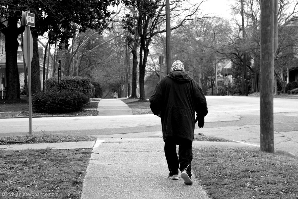 photoblog image Walking Man on a Cold Day